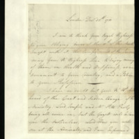 Letter from John Maude to Prince William, written in London