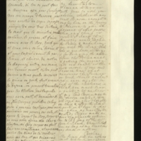 Letter [in French] from the Princess of Wales to Mrs. Clayton [GEO/ADD/28/105], wishing to seek her advice, including as to whether Benson should be included on the journey to Hanover, commenting that the Ministry would like to exclude the Prince [presumably of Wales] and make him go with the King, that [the Archbishop of ] 'York' wishes to bring the matter before Parliament and put the Regency 'into our hands, as the best resort', and noting that 'The Prince will doe [sic] nothing in it without your advice'; with transcription in French and English translation [GEO/ADD/28/036a].