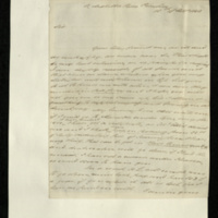 Letter from John Belson to General Jacob de Budé, requesting £10 to enable him to go to take up his commission in Newcastle.