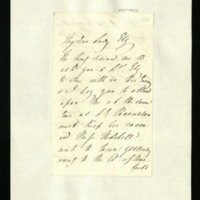 Letter from Queen Adelaide to Lady Ely, requesting her attendance