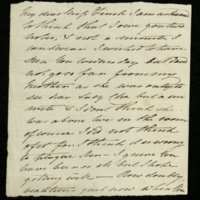 Letter from Princess Elizabeth to Miss Finch