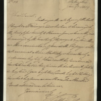 Letter from the Duke of Clarence to J.W. Daniell, written at Liebenstein