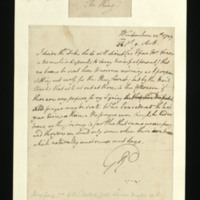 Letter from George III to the Duke of Leeds