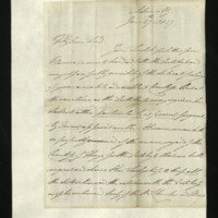 Letter from William, Duke of Clarence to John Bourke, 4th Earl of Mayo, written from the Admiralty