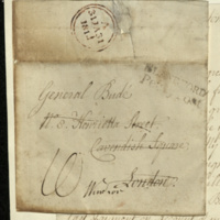 Letter from Thomas Antell to General Jacob de Budé, thanking him for the favours shown to him and his wife but reporting that a couple of items sent to them, including a framed picture of their late daughter, had not yet reached them.