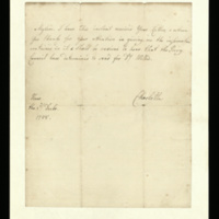 Letter from Queen Charlotte to [Lord Thurlow]