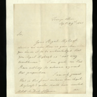 Letter from George Canning to William, Duke of Clarence, written at the Foreign Office