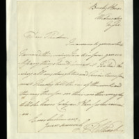 Letter from the Duke of Clarence to Miss Sketchley [?], written at Bushy House