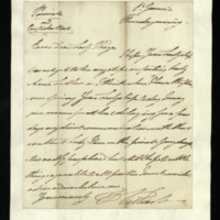 Letter from William, Duke of Clarence to Lady Mayo, written at St James's, stating that he thinks it opportune that Lady Mayo should delay approaching Lady Anne Ludlow.