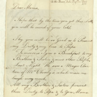 Letter from the Princess Royal to Queen Charlotte