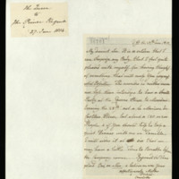 Letter from Queen Charlotte to the Prince Regent