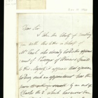 Letter from Lord Strathavon to Thomas Marrable