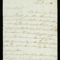 Letter from William, Duke of Clarence to Mr Sinclair [?], written at Dieppe