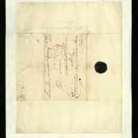 Envelope from the Duke of Clarence addressed to Miss Turner at Goldstone house