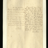 Letter [in French] from Queen Caroline to Mrs Clayton [GEO/ADD/28/103] expressing pleasure at hearing that Mrs Clayton will be visiting her tomorrow, and impatience to see her; with transcription in French and English translation [GEO/ADD/28/029].