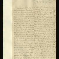 Letter [in French] from the Princess of Wales to Mrs. Clayton [GEO/ADD/28/094], reporting on the amount of support the Princess believes they have against [?] the passage of the Bill [believed to be the Peerage Bill] and identifying various men on their side, commenting that 'He' [identifed by a note by Mrs Clayton as Lord Sunderland] does all possible to gain Tory support [for them], contradicting reports identifying individuals who had left their side and reporting that they expect the Bill to be introduced on Wednesday; with transcription in French and English translation [GEO/ADD/28/054].