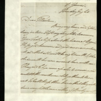 Letter from William, Duke of Clarence to Lady Mayo, written at St James's