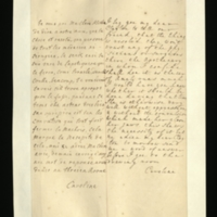Letter [in French] from the Princess of Wales to Mrs. Clayton [GEO/ADD/28/140] asking her to tell 'our freind' [sic] [presumably Dr Freind] that 'it' [presumably the seton operation] will be done by 'the Apothecary in whom I confide' as Princess Amelia's ear 'runs much', commenting that her daughter is otherwise well, and asking her to ascertain when the operation should be done; with transcription in French and English translation [GEO/ADD/28/019].