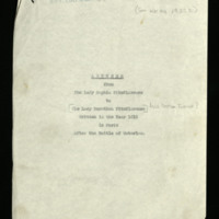 Transcripts of letters from Sophia FitzClarence to Miss Dorothea Turner [?], written in Paris
