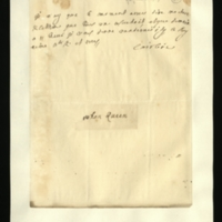 Letter [in French] from Queen Caroline to Mrs. Clayton [GEO/ADD/28/123], reporting that all is going as wished and that she will see her tomorrow at 11 [in the morning, presumably]; with French transcription [GEO/ADD/28/065 part 1].