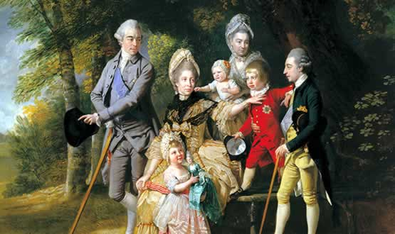 Painting of the family of George III